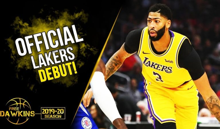 Anthony Davis Official Lakers DEBUT 2019.10.22 vs Clipperd – 25 Pts, 10 Rebs, 5 Asts! | FreeDawkins