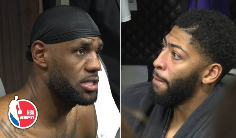 Anthony Davis, LeBron James emphasize defense after Lakers' win vs. Jazz | NBA on ESPN