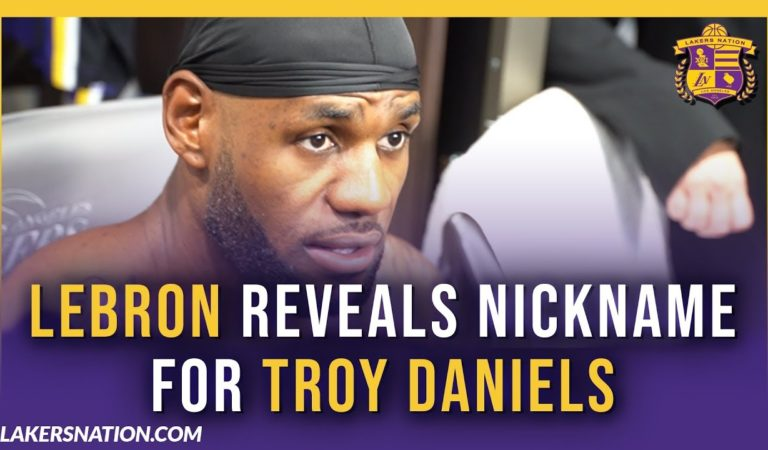 Lakers Post Game Videos: LeBron Reveals Nickname For Troy Daniels