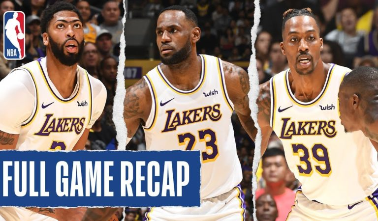 HORNETS at LAKERS | Davis, James and Howard Post Double-Doubles | Oct. 27, 2019
