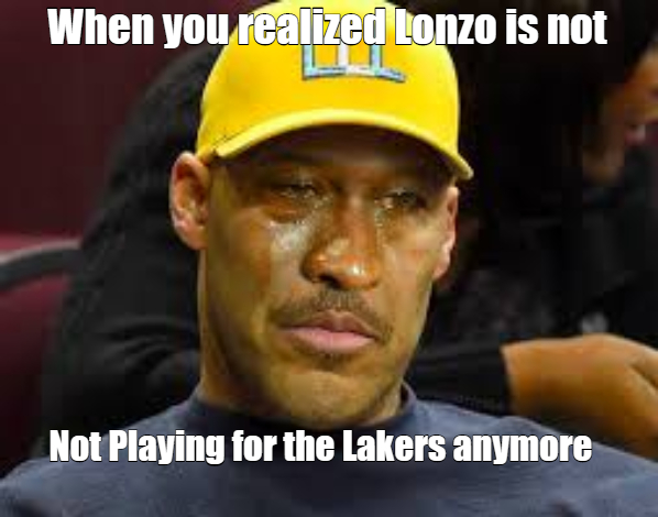 Lavar remembers Lonzo doesn't play for Lakers anymore.