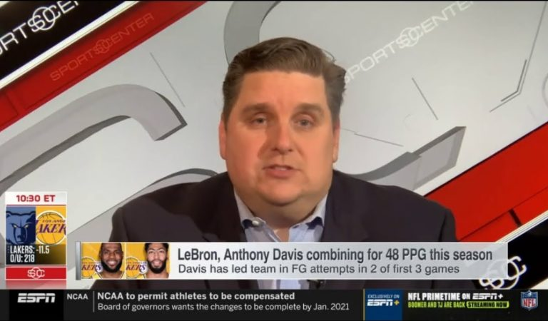 Brian Windhorst BELIEVES: LeBron/Davis combining for 48 FFG; Deserve the best NBA duo | ESPN SC