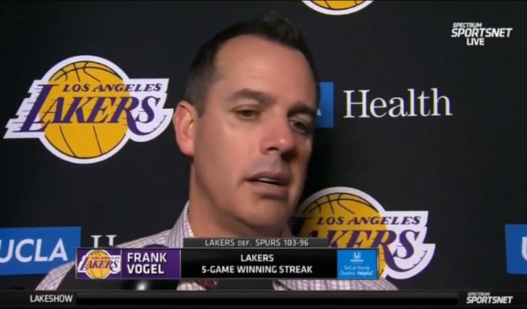 "ESPN SC | Frank Vogel ""reacts to"" Lakers beat Spurs 103-96; LeBron/Davis proved is best duo in NBA"