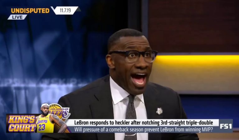 """Shannon react to LeBron shuts down Lakers heckler: """"Your lady's embarrassed to be with you"""""""