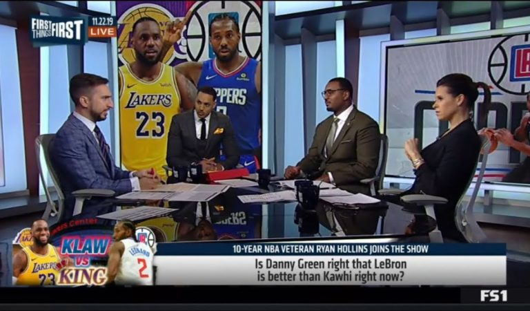 "Nick Wright, Ryan Hollins ""agrees"": Danny Green insists LeBron is better than Kawhi right now"