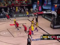 James Harden with an assist vs the Los Angeles Lakers